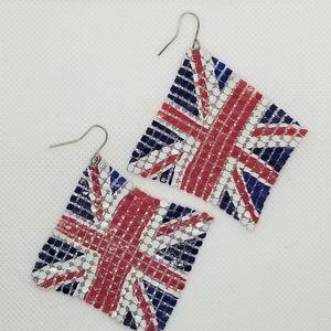 Britian Flag Soft Earrings